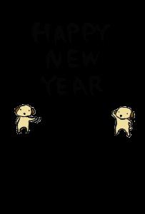 年賀状-2018年-手書きテンプレート(犬)03
