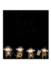 年賀状-2016年-手書きテンプレート(猿)03