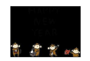 年賀状-2016年-手書きテンプレート(猿)04