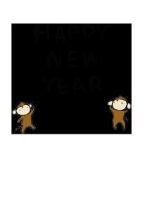 年賀状-2016年-手書きテンプレート(猿)05