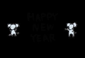 年賀状-2020年-手書きテンプレート(ねずみ)03 横