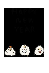 年賀状-手書きテンプレート(羊)<無料>05