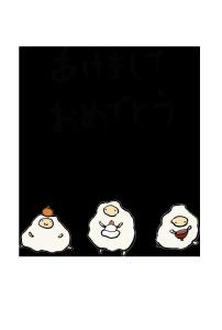 年賀状-手書きテンプレート(羊)<無料>-和風05