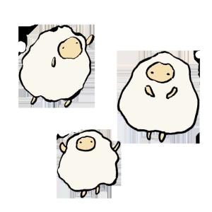 羊の手書きイラスト