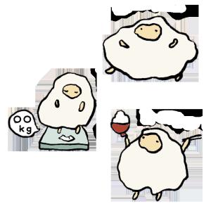 羊(ダイエット)の手書きイラスト