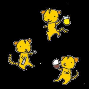 虎(飲み会)の手書きイラスト02