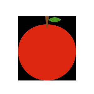 りんごのシンプルイラスト