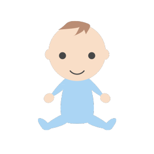 赤ちゃん(男の子)のシンプルイラスト