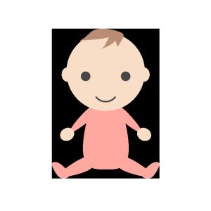 赤ちゃん(女の子)のシンプルイラスト