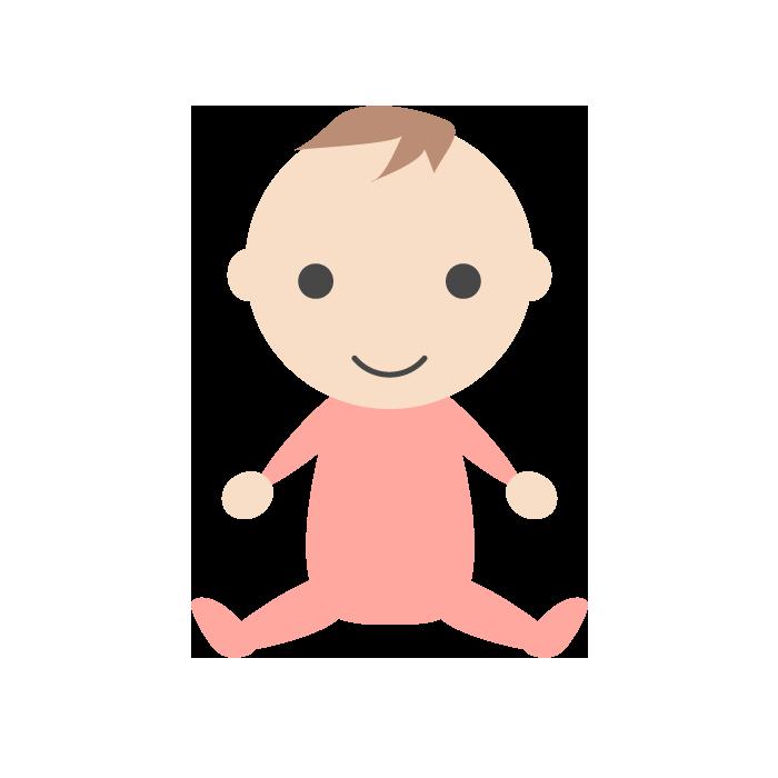 赤ちゃん 女の子 のシンプルイラスト 無料 イラストk