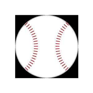 野球ボールのシンプルイラスト