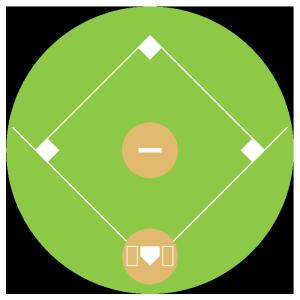 野球グラウンドのシンプルイラスト