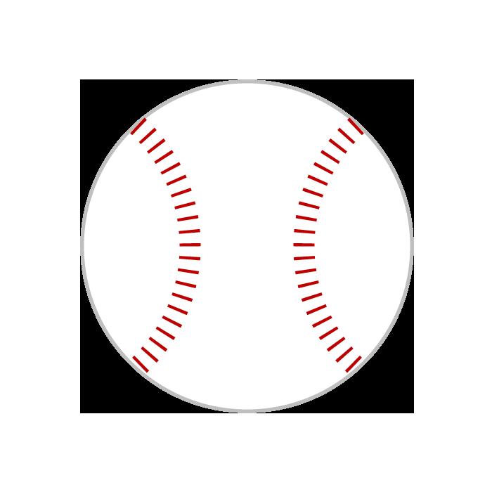 カード クリスマスカード 素材 テンプレート : 野球ボールのシンプルイラスト ...