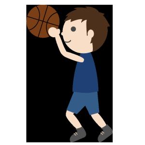 バスケットボール(男子)のシンプルイラスト