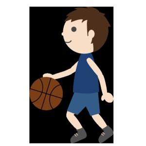 バスケットボール(男子)02のシンプルイラスト