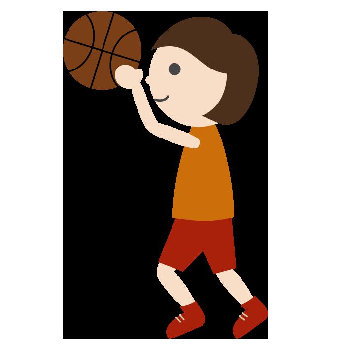 バスケットボール女子のシンプルイラスト 無料 イラストk