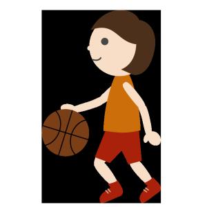 バスケットボール(女子)02のシンプルイラスト