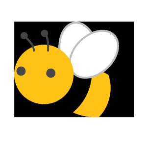 ミツバチのシンプルイラスト