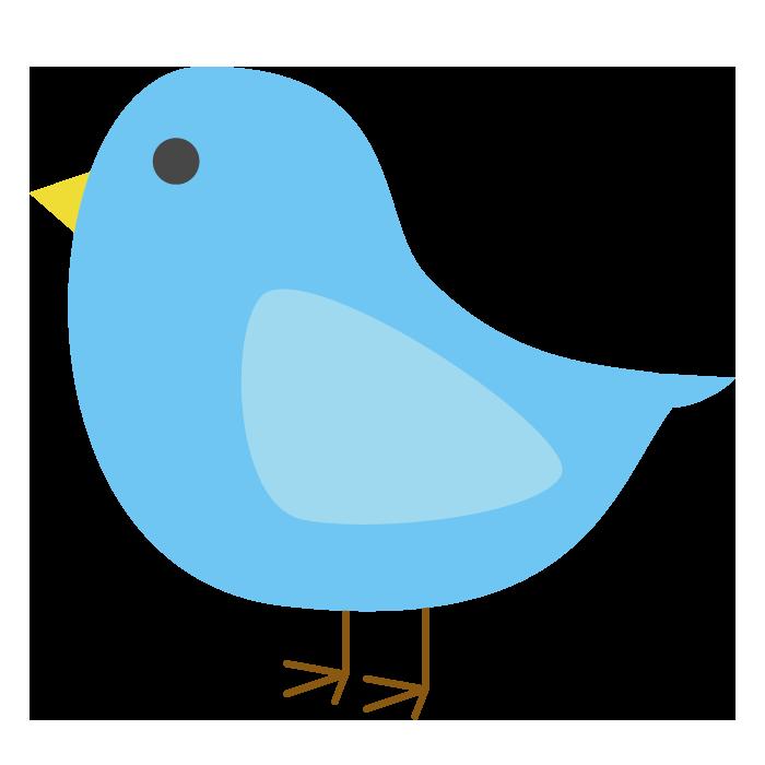 鳥青のシンプルイラスト 無料 イラストk