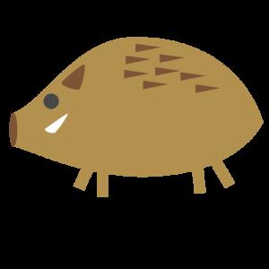 猪のシンプルイラスト