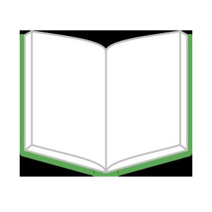 本(見開き)のシンプルイラスト