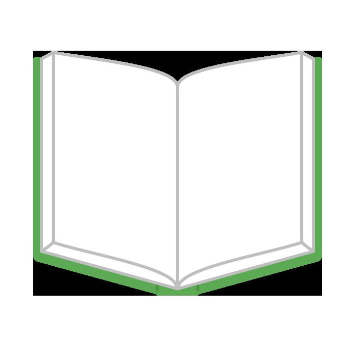 本見開きのシンプルイラスト 無料 イラストk