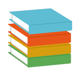 本(山積み)のシンプルイラスト