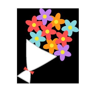 花束のシンプルイラスト