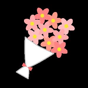 花束(ピンク)のシンプルイラスト