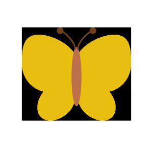 蝶のシンプルイラスト