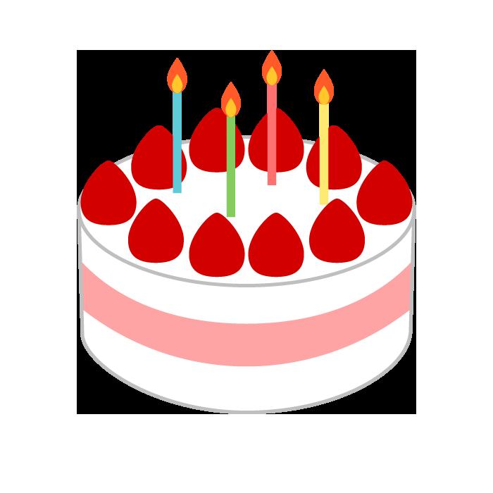 ケーキのシンプルイラスト 無料 イラストk