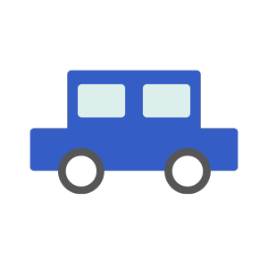 車(青)のシンプルイラスト