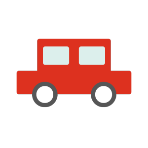 車(赤)のシンプルイラスト