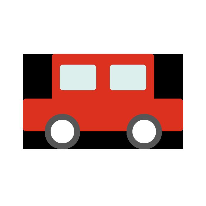 車赤のシンプルイラスト 無料 イラストk
