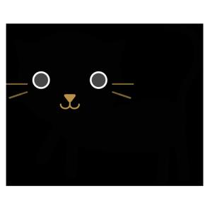 猫(黒)のシンプルイラスト
