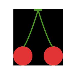 さくらんぼのシンプルイラスト