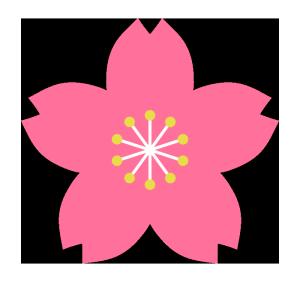 桜の花のシンプルイラスト