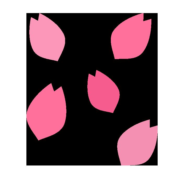 桜の花びらのシンプルイラスト 無料 イラストk