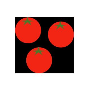 プチトマトのシンプルイラスト