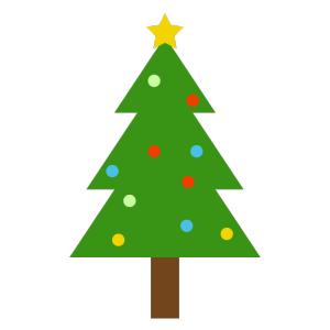 クリスマスツリーのシンプルイラスト