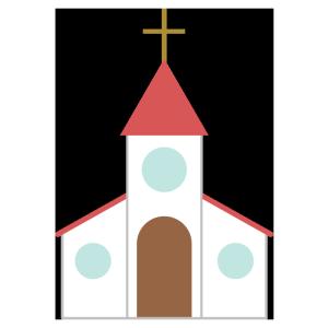 教会のシンプルイラスト