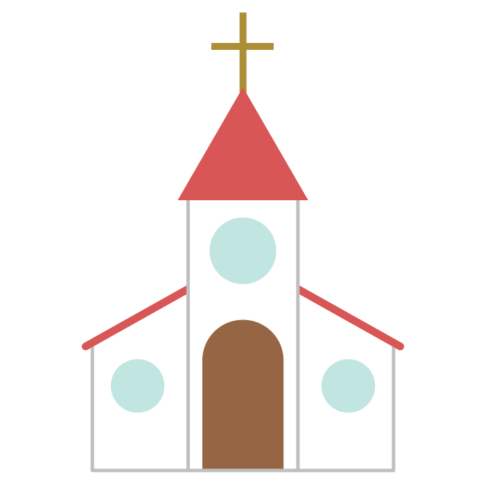 教会のシンプルイラスト 無料 イラストk