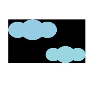 雲のシンプルイラスト