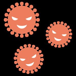 コロナウイルスのシンプルイラスト