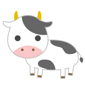 牛のシンプルイラスト