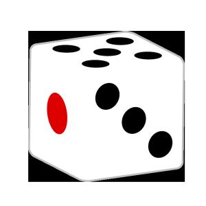 サイコロ(角丸)のシンプルイラスト