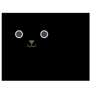 犬(黒)のシンプルイラスト
