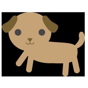 犬(茶色)のシンプルイラスト