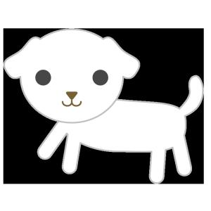 犬(白)のシンプルイラスト