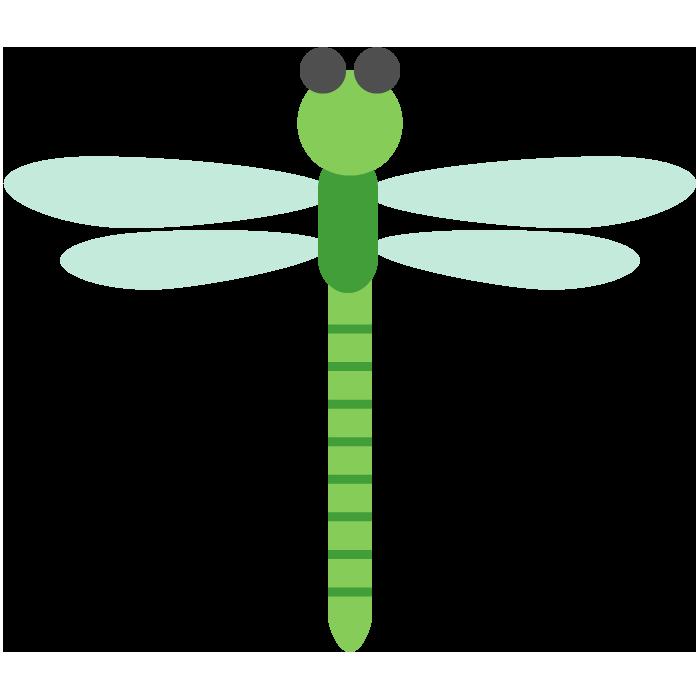 トンボ緑のシンプルイラスト 無料 イラストk